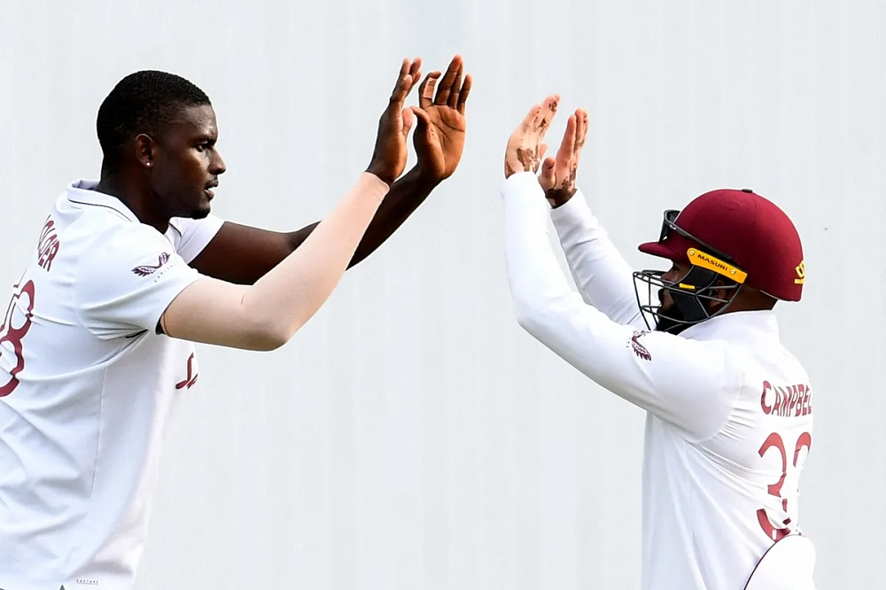 Two wickets apiece for Holder and Joseph