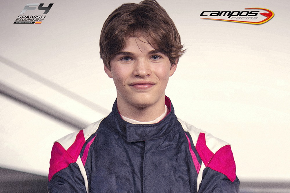 Oleksandr Partyshev joins Campos Racing F4