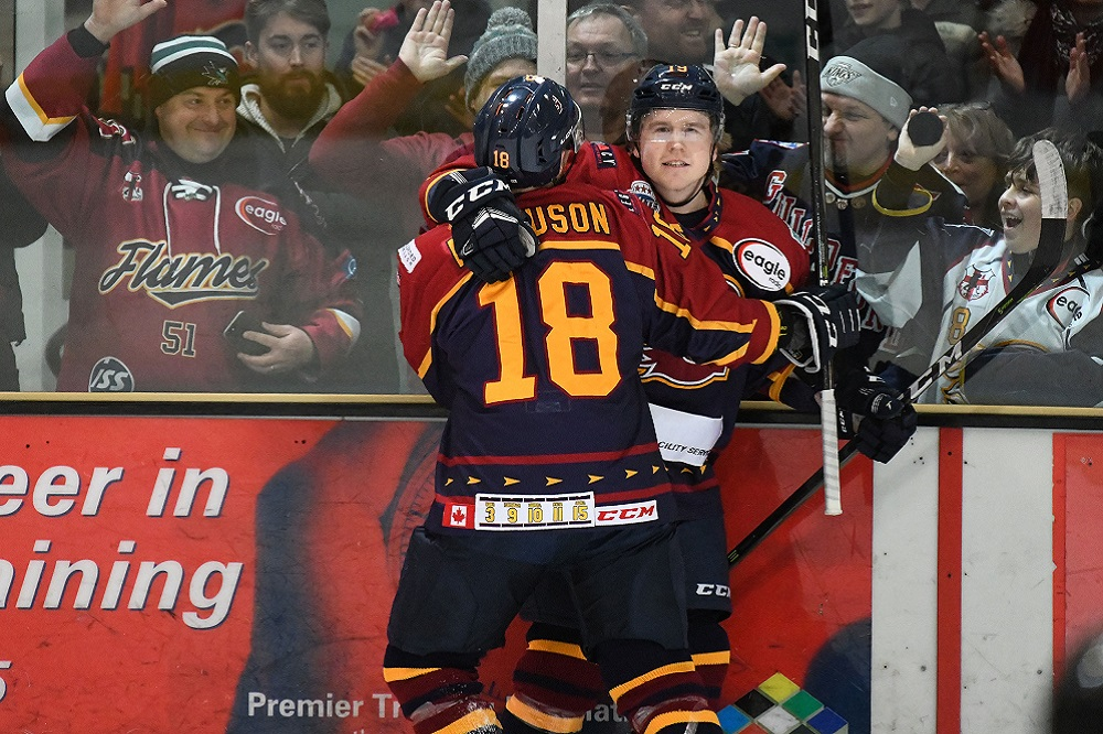 Four Point Weekend for Flames